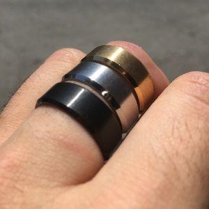 Men's Titanium Ring- Black- Sz 11, 12